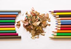 Fine-moulded and new pencils Royalty Free Stock Photo