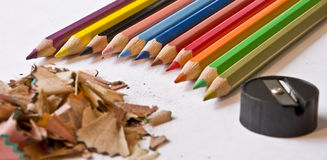 Fine-moulded pencils royalty free stock photos