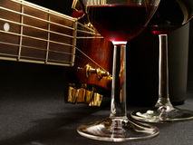 Fine music of wine Stock Image
