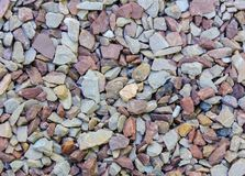 Fine natural stone mulch for landscaping texture background Stock Photo