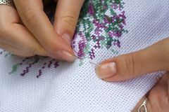 Fine needlework Stock Images