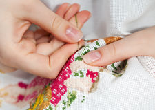 Fine needlework Royalty Free Stock Images