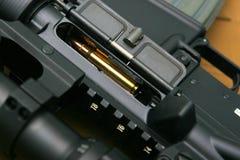 Fine nera del fucile in su Fotografie Stock