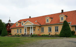 Fine old house. The main house on an old estate in Norway royalty free stock photography