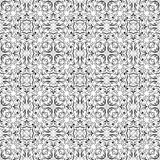 Fine oriental colorful carpet or ceramic ornament in orange and blue colors. Fine oriental black and white filigree ornament, vector symmetric geometric patterns Royalty Free Stock Photos