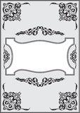 Fine ornate border Stock Images