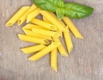 Fine penne noodles Stock Photos