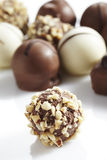 Fine pieces of decorated chocolate Royalty Free Stock Photo