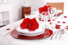 Fine place setting Royalty Free Stock Images