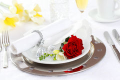 Fine place setting Stock Image