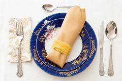 Fine porcelain place setting Stock Photo