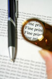 Fine Print 1 stock photos