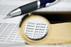 Fine Print 2 Stock Photography
