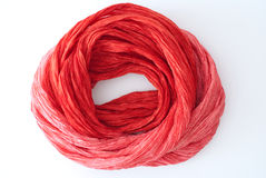 Fine red silk texture Royalty Free Stock Photography