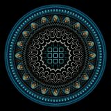 Fine rendering of a fractal. vector illustration