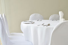 Fine restaurant dinner table place setting Royalty Free Stock Image