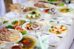 Fine restaurant dinner table Stock Image