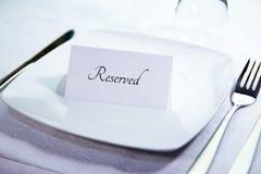 Fine riservata del posto della tavola su Immagine Stock Libera da Diritti