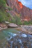 Fine  river between red rocks Stock Photos