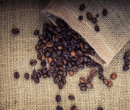 Fine roasted coffee beans Royalty Free Stock Photography