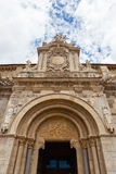 Fine romanesque   main entrance  in the  San isidoro clllegiate. Main entrance general view of the romanesque San Isidoro church in the city of Leon Spain.This Stock Photo