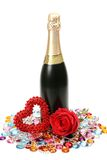 Fine rose and champagne Stock Photo