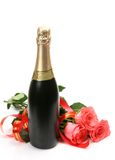 Fine Roses And Champagne Stock Image