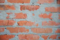 Fine rossa del fondo del muro di mattoni su Fotografia Stock Libera da Diritti