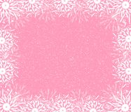 Fine rosy frame. Of snowflakes Royalty Free Stock Photo