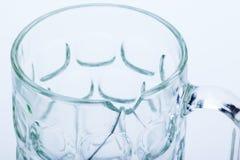 Fine rotta di vetro su Fotografie Stock