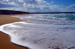 A fine sand beach. Stock Photo