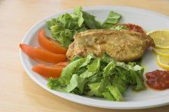 Fine saporita del pollo in su Fotografia Stock Libera da Diritti