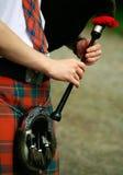 Fine scozzese di chanter in su Fotografie Stock