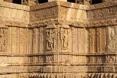 Fine sculpture of Modhera Sun Temple Royalty Free Stock Image