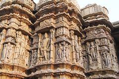 Fine Sculpture Of Modhera Sun Temple Stock Photo