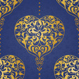 Fine seamless vector pattern in Eastern style. Royalty Free Stock Photo