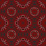 Fine seamless vintage patterns. In red and black design Stock Images