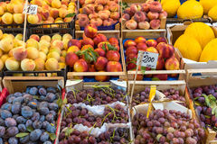 Fine selection of fresh fruits at a market Royalty Free Stock Image