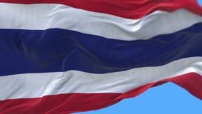 fine senza cuciture 4k su di ondeggiamento lento della bandiera della Tailandia in vento Alpha Channel illustrazione vettoriale