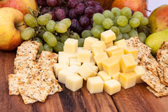Fine served cheese snack Stock Image