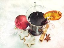 Fine served glühwein Stock Photos