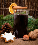 Fine served mulled wine Stock Photo