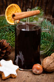 Fine served mulled wine Stock Image