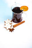 Fine served mulled wine Stock Photography