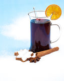 Fine served mulled wine Royalty Free Stock Photography