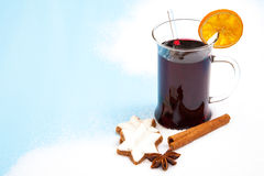 Fine served mulled wine Stock Photos