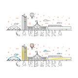 Fine settimana a Canberra Capitale dell'Australia Pagina di atterraggio royalty illustrazione gratis