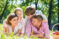 Fine settimana con la famiglia Fotografie Stock