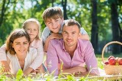 Fine settimana con la famiglia Fotografia Stock Libera da Diritti