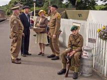 Fine settimana di rimessa in vigore 1940, Embsay, Yorkshire, Regno Unito Immagini Stock Libere da Diritti